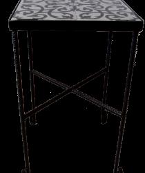 שולחן קרמיקה אפור שחור