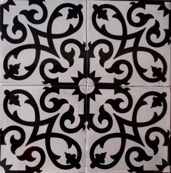 שולחן קרמיקה אפור שחור - 4 אריחים