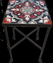 שולחן קרמיקה בורדו