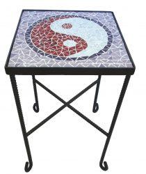 שולחן פסיפס יין ויאנג