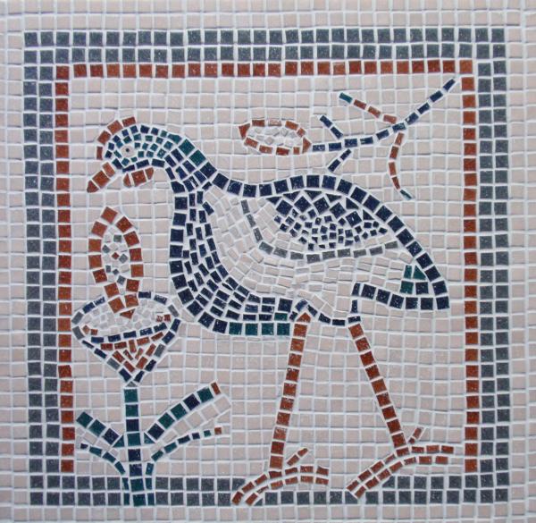 פסיפס ציפור עתיק