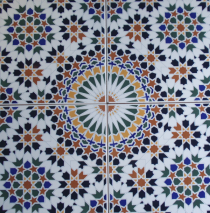 שולחן קרמיקה צבעונית