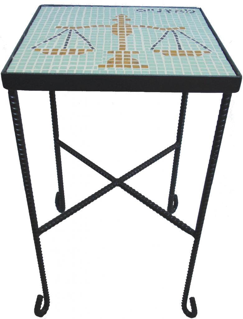שולחן פסיפס מזל מאזניים