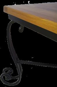 שולחן סלון ריבועי בשילוב עץ