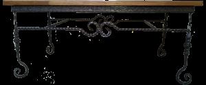שולחן סלון מפורזל מלבני בשילוב עץ