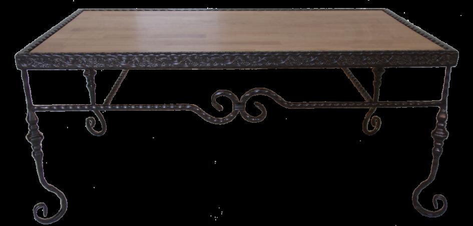 שולחן סלון מפורזל בשילוב עץ שקוע
