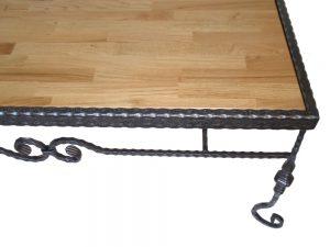 שולחן סלון פירזול עתיק בשילוב עץ איכותי