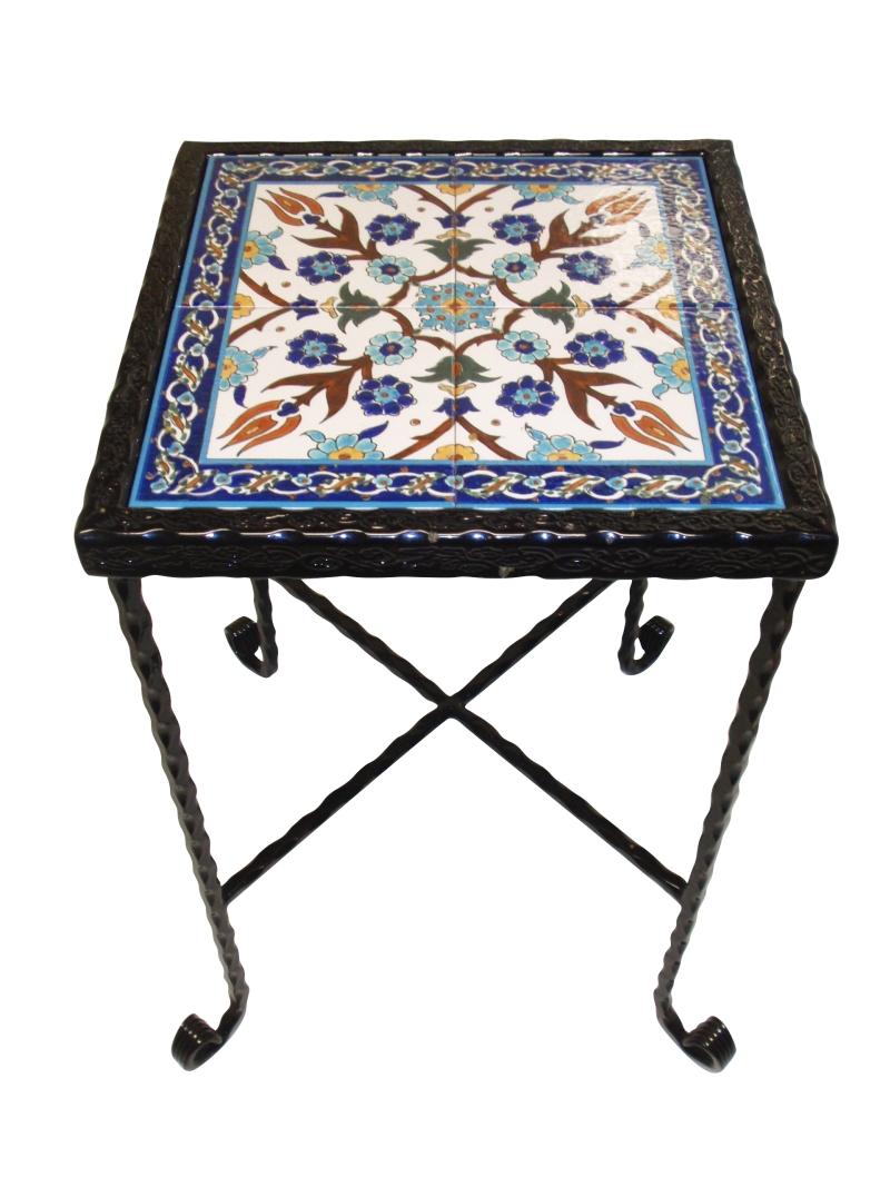 שולחן קרמיקה תכלת כחול