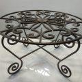 שולחן ברזל עגול פירזול