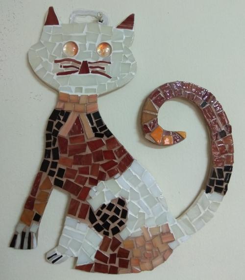 פסיפס חתול לתליה